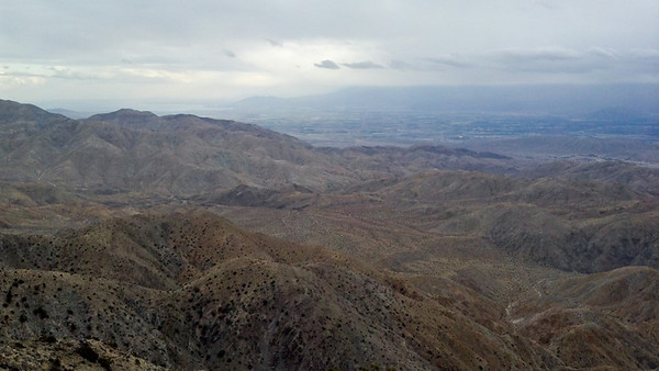View from Keys View atop Joshua Tree National Park
