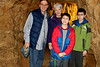 Underground explorers - Uncle Kent and Aunt Sarah with Leo and Bryan Sweitzer from Muncie, Indiana.