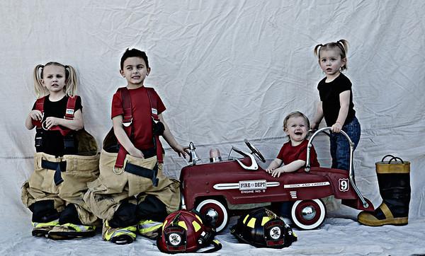 Papa fire kids