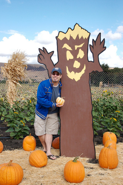 Tom at the Spina Farms pumpkin patch.