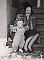 My Mom, Alice Mary Bukowski with my older brothr, George Bukowski.