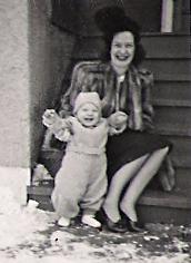 My Mom, Alice Mary Bukowski with my older brothr, George Bukowski.