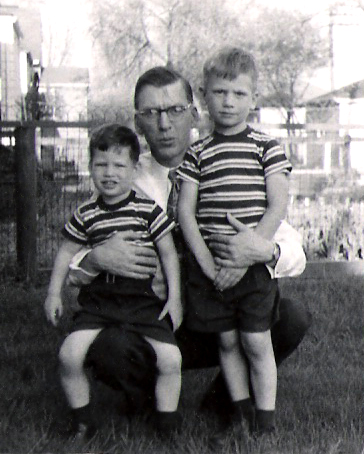 Left to right: Me, my Dad, my brother.