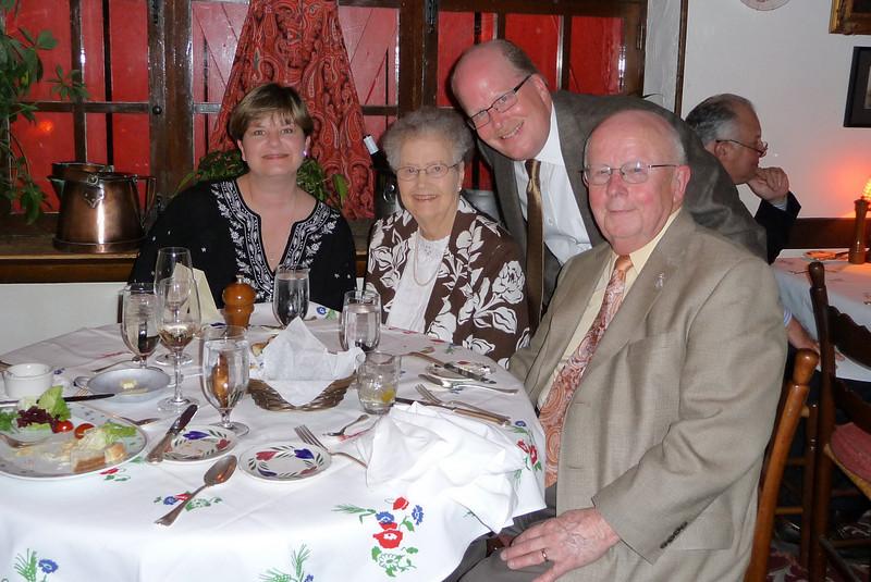 At the table: Carolyn, Mom, Jim, Dad