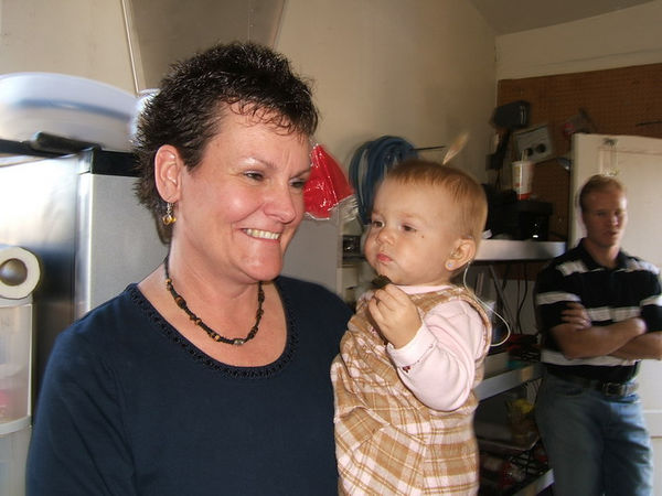 Beautiful Bonnie with her granddaughter, Chris's daughter, Brantle