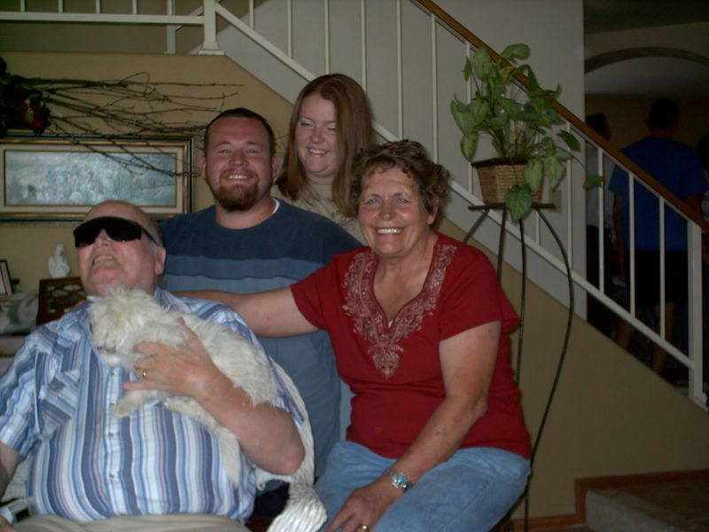 DEVON AND FAWN, VANESSA'S SON AND WIFE WITH GRANDMA AND PA