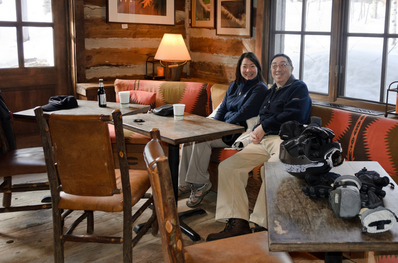 Allan Lai, Lesli Lai Sederquist  at Sundance Resort. Sundance Resort was founded by Robert Redford.