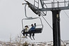 Lesli Lai Sederquist, Art Sederquist on chair lift at Park City Mountain Resort