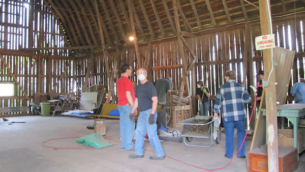 Saturday, May 13th- Cleaning the barn