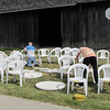 Jerry Buehler and his grandson cleaned chairs