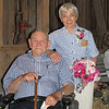 Frank and Myrtle renewed their wedding vows.