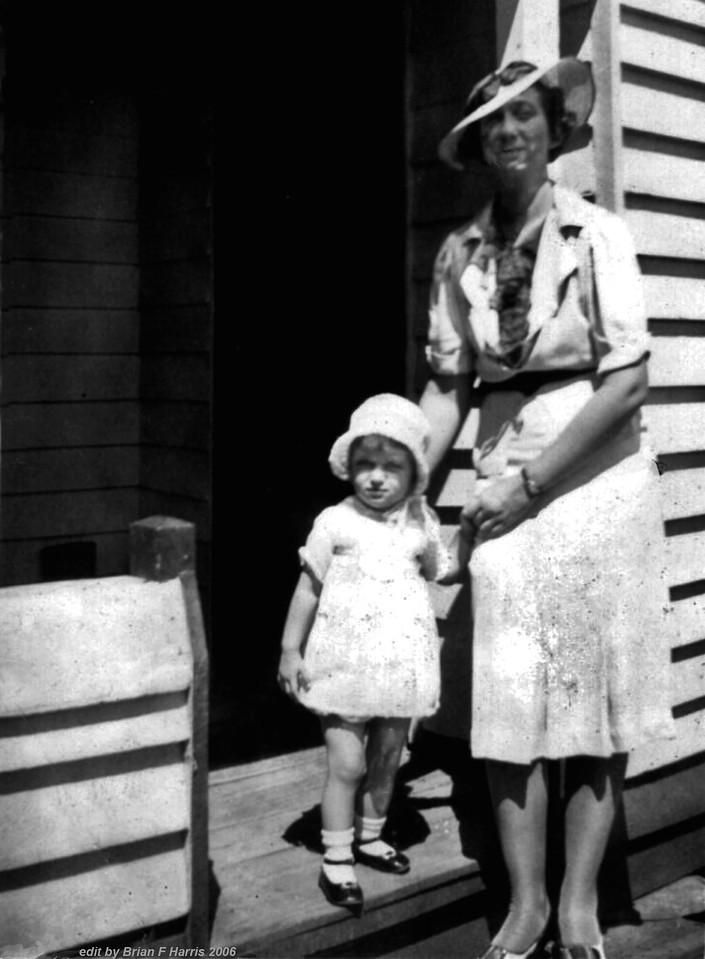Maybe Grandma Webster & Patrica Harris at Wellcamp, Toowoomba, 1940,