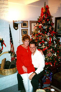 It's Christmas. Well... almost. Nora Mitchell is hosting yet another gala event. This picture of Kathy (at 38-weeks) and Pat was taken during a party that Nora hosted in her home for First Baptist Day School preschool teachers.