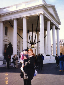 Kathy and Sydney Kane in front of the White House. We just finished a daytime tour to see the beautiful Christmas decorations. Too bad they wouldn't let us take pictures inside!