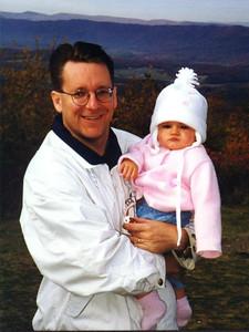 Pat and Sydney Kane enjoying the changing colors in Shenandoah National Park.