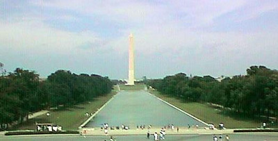 The Washington Monument from the steps of the Lincoln Memorial