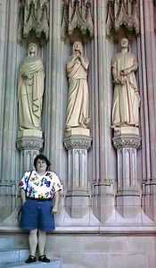 Kathy at the Washington National Cathedral.