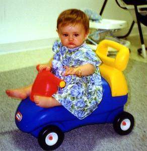 Sydney Jean Kane having fun in the Kennedy-Warren playroom