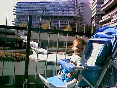 Sydney Jean Kane inside the Watergate complex