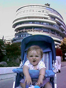 Sydney Jean Kane in front of the Watergate complex.