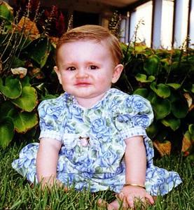 Sydney Jean Kane @ 8-months in front of the Kennedy-Warren