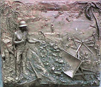 """""""Seabees Can Do"""" plaque at the U. S. Navy Memorial."""