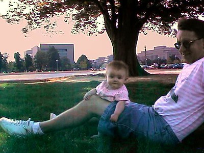 Sydney enjoying the grass in front of the U.S. Capitol Building