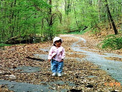 Sydney Jean Kane enjoying her hike through Rock Creek Park.