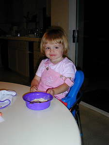 Sydney enjoying her ice cream