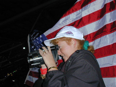 Kathy enjoying the opening ceremony of the 2000 Olympic Summer Games held in Sydney, Australia.