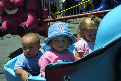 Sydney enjoying a ride at the Seabee Days festival