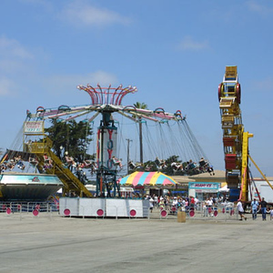 The carnival rides at the Seabee Days festival