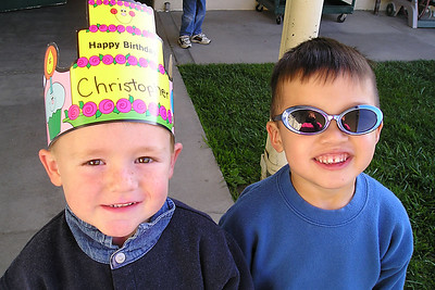 Christopher and Eli at First Baptist Day School.