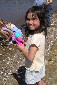 Sierra Moore trying her luck in Lake Casitas during the kids' fishing day that was organized by the Casitas Municipal Water District.