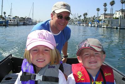 Pat, Sydney & Christopher Kane with Aunt KK (Kathy Kane) cruising through Channel Islands Harbor.