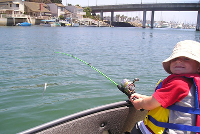 """Christopher reeled in a """"big one"""" while we were out enjoying the weather. He was pretty proud of himself."""