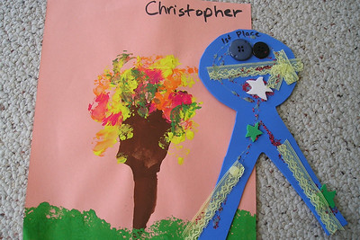 A sampling of the artwork that Christopher Kane created during preschool at First Baptist Day School.