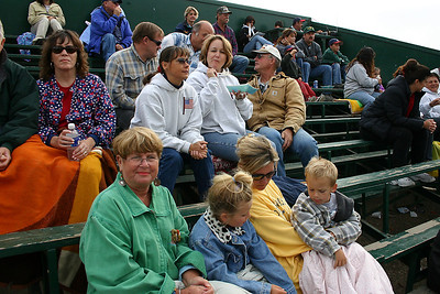 Paula Roth (bottom) with her mom and kids watching her son, Simon, play baseball during a King City All-Stars game. Aunt Betsy and Uncle Frank (center) made the game as well.