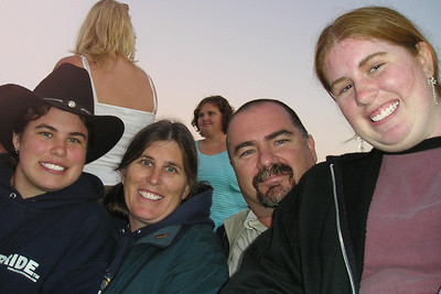 Christopher's teacher, Ms. Karen and her family (Charlie, Michele and ?) enjoying the Keith Urban concert at the Ventura County Fair.