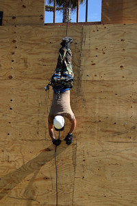 Rappelling demonstration during Seabee Days.