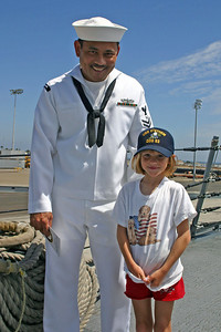 Sydney on a tour of the USS Stethem DDG-63 during Seabee Days.