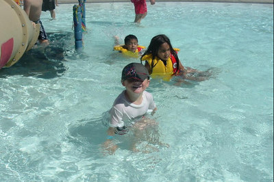 Christopher Kane enjoying the day at the Lake Casitas Water Adventure.