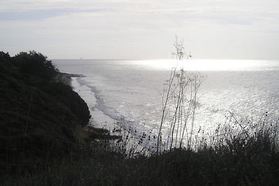 View to the South at El Capitan State Beach.