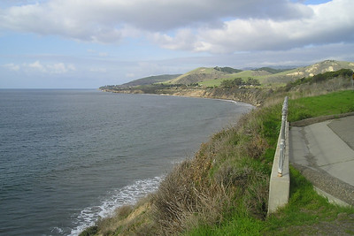 View to the North at El Capitan State Beach.