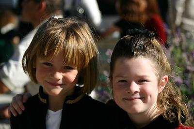 Sydney and Julia after St. John's Christmas Program