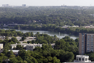 We enjoyed the view of Town Lake and the surrounding area from our room at the Hilton Austin hotel.