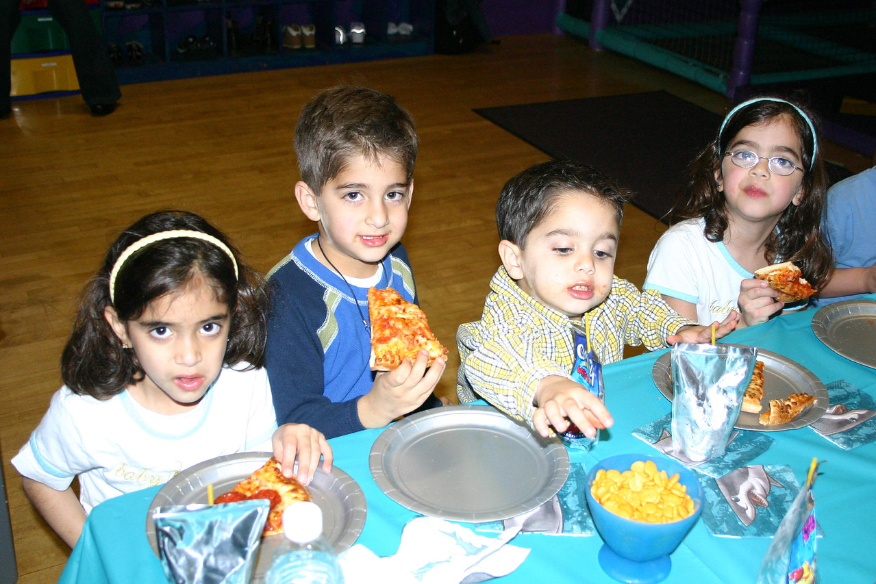Christopher's 5th Birthday Party. Nicole, Zaid, Omar & Natalie