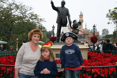 Kathy, Sydney and Christopher ready to enjoy the day at Disneyland.