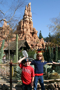 Christopher and Sydney next to the Big Thunder Mountain Railroad. The kids liked it so much, we went twice.
