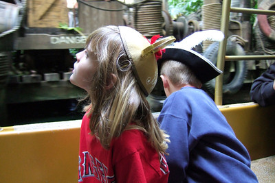 Sydney and Christopher enjoying the Jungle Cruise.